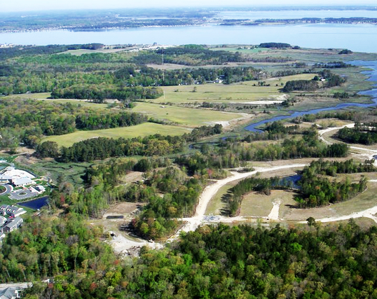 Aerial Photograph Of The Bay Forest Beach Community In