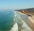 Aerial View Of The Coastline Beach In San Diego In