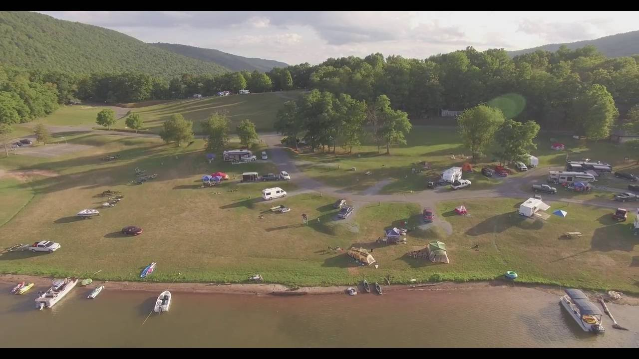 Lake Raystown Resort Drone View  Youtube