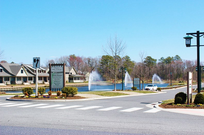Main Entrance To The New Beach Community Of Bay Forest In