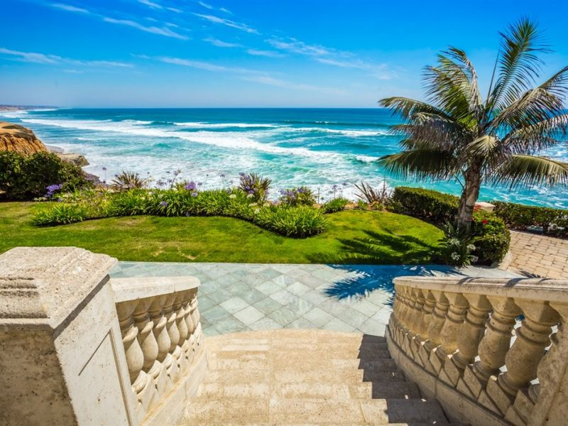 Picturesque Carlsbad Estate Comes With Private Beach