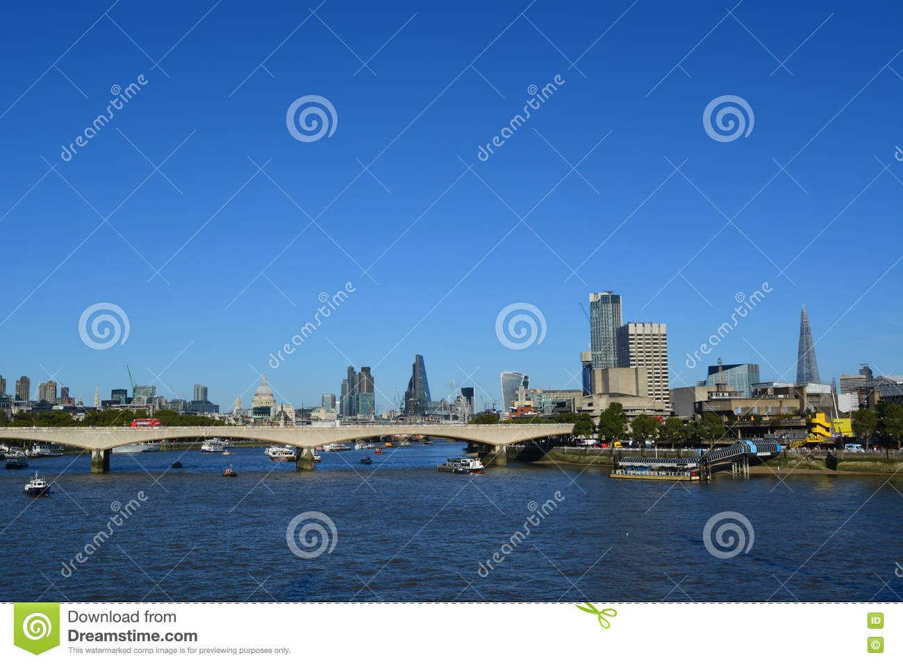A View Of Central London On A Sunny Day Editorial