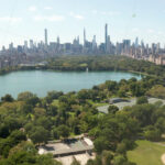 Aerial Beautiful Central Park View With Lake And