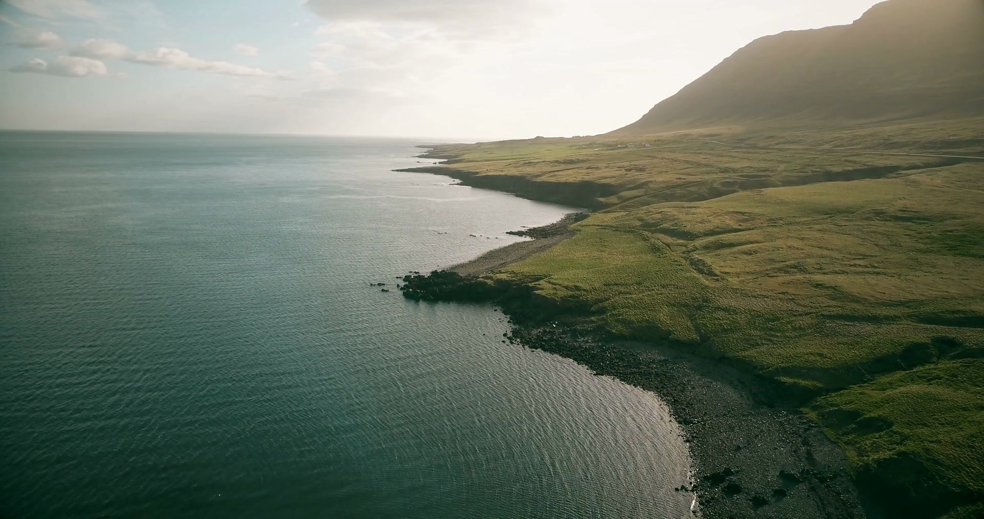 Aerial View Of The Shore Of The Sea In Sunny Day Copter