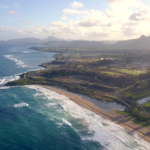 Amazing Aerial View Of The Hawaii Nature Beac Pacific