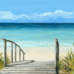 Art Print 4X6 From Painting Sea View 147Lucie Dumas