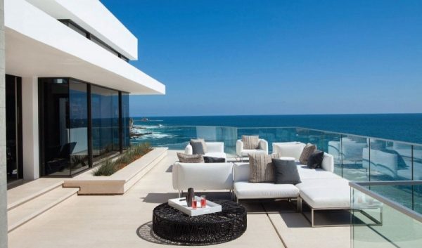 Beach House With An Open Air Balcony Surroundedglass