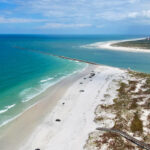 Beautiful Aerial View Of The Ocean Bay At Ponce Inlet