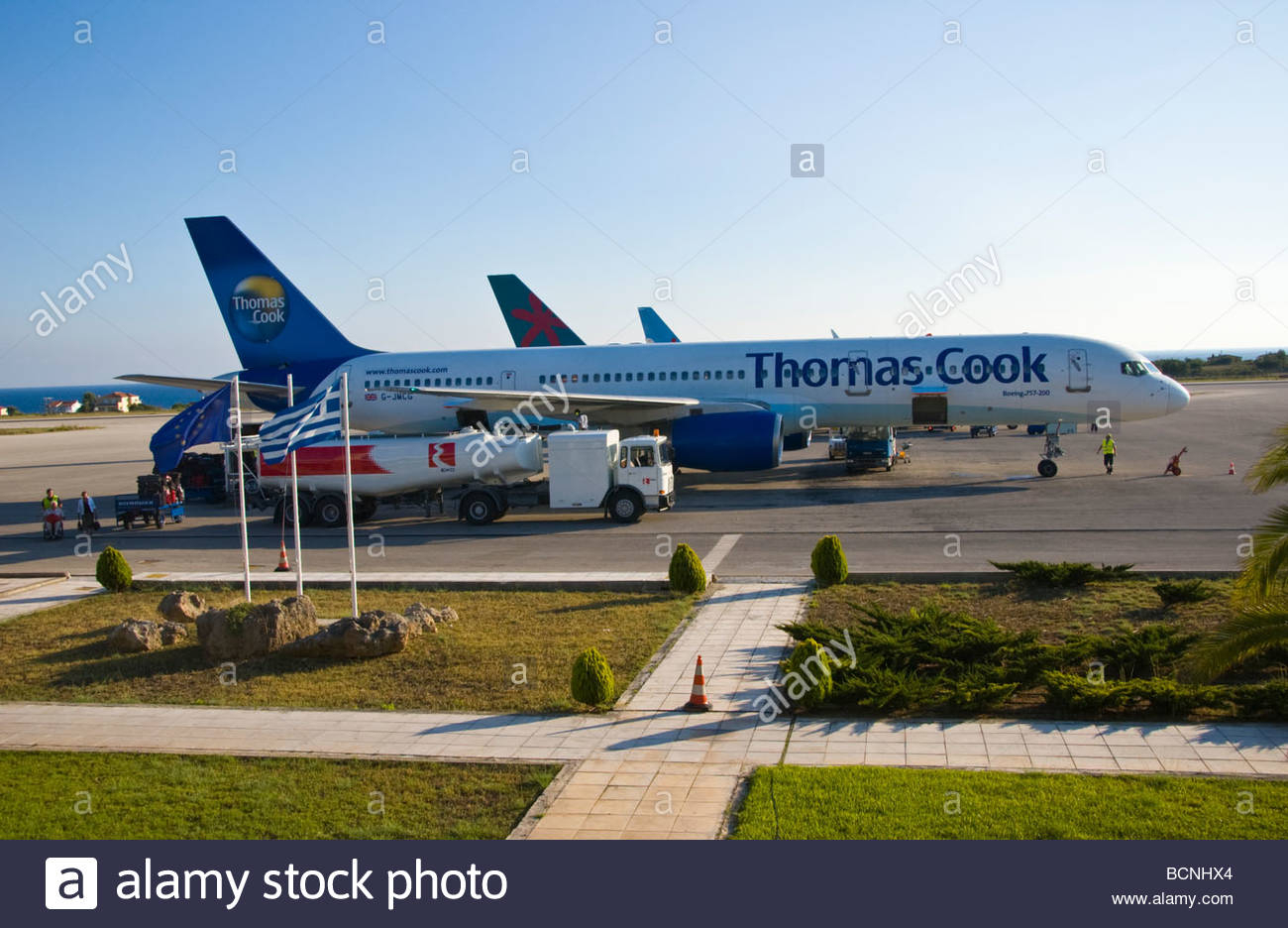 Boeing 757200 On The Tarmac At Kefalonia Airport On The
