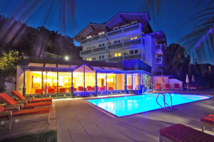 Heated Outdoor Pool At The Hotel In Zell Am See  Hotel