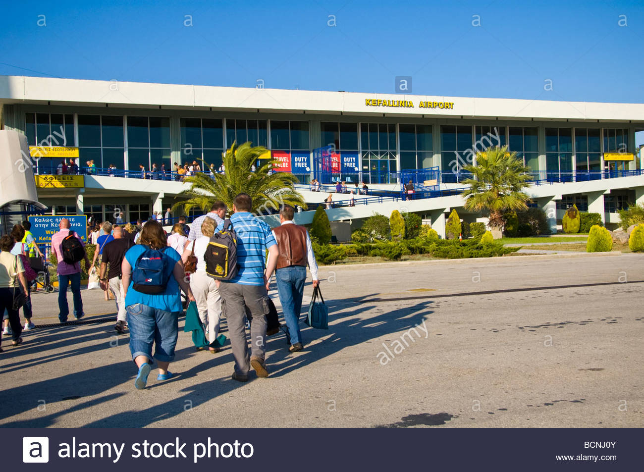 International Arrivals At Kefalonia Airport On The Greek