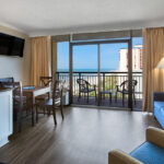 Ocean View Suite With Double Beds Myrtle Beach The Caravelle