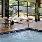 Our Indoor Pool Seating Area Was Designed With The