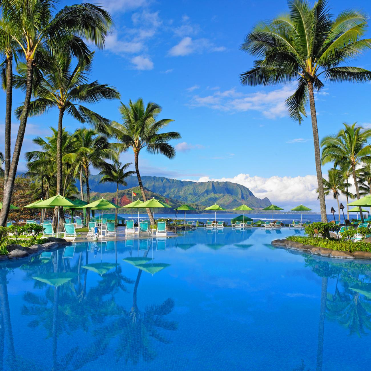 Perched Above Hanalei Bay The Princeville Resort In