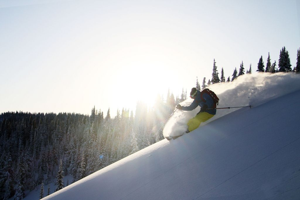 Skiing At Wonderful Red Mountain Resort In Rossland Bc