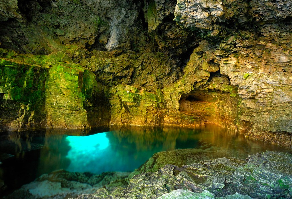 The Grotto And The Underwater Passage  Please View The