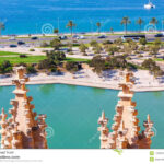 View Of Parc De La Mar Park Of The Sea With The Sea In The