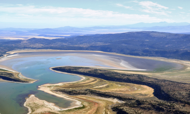 Aerial Photos Show Dismal Water Levels At Eagle Lake