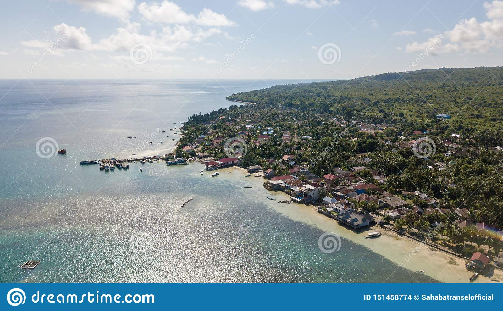 Aerial View From The Beachside Village Near The Jetty With