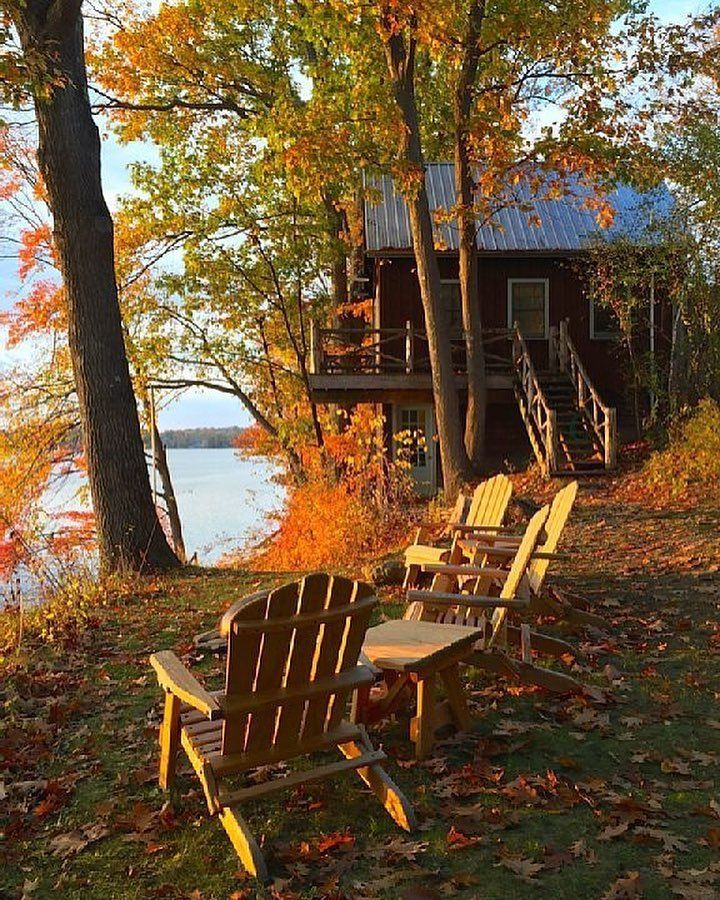Fall Lakeside Retreatsign Me Up This Is Actually A