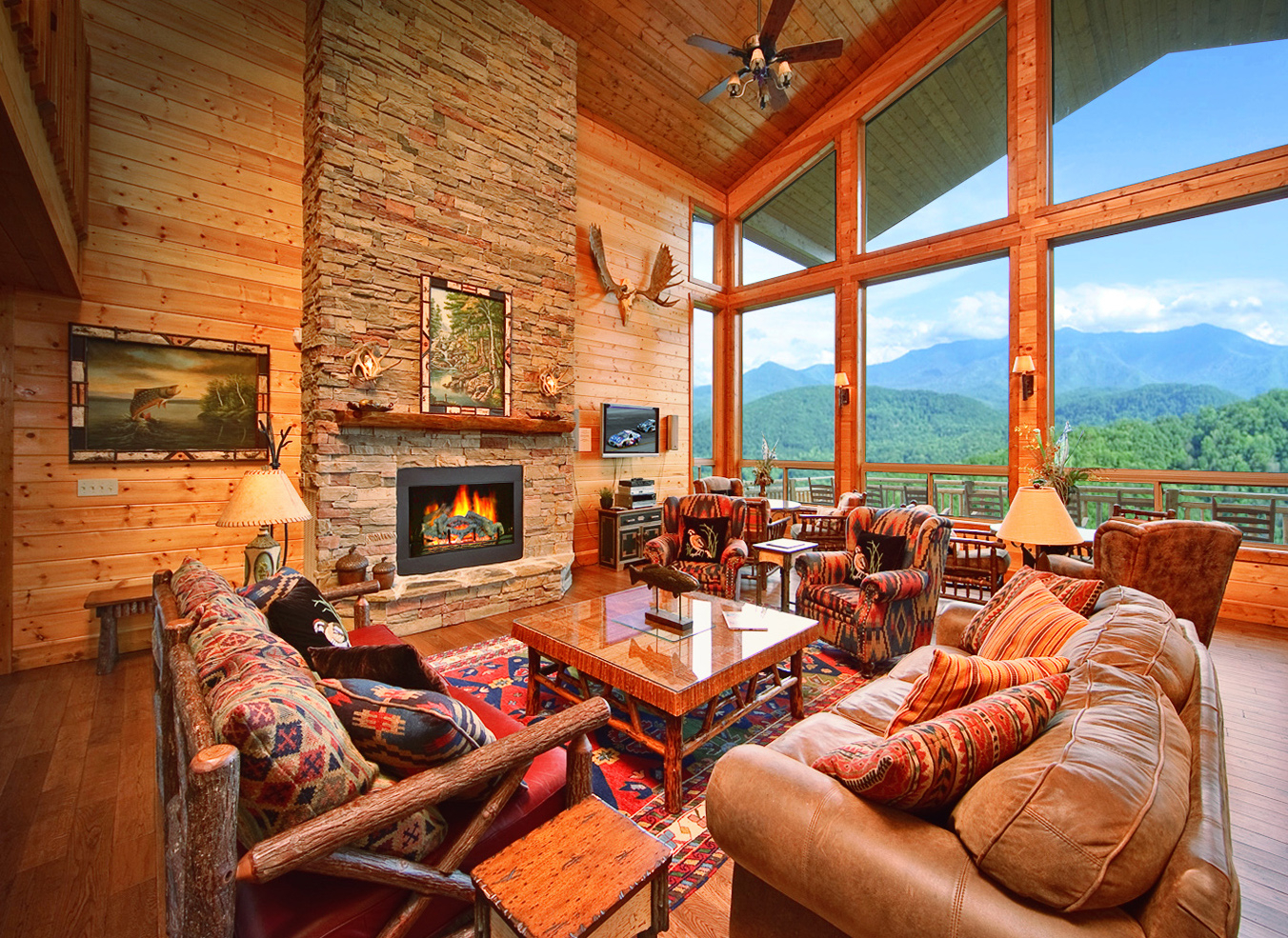 Large Cabins  Smoky Mountain Cabin Rentals