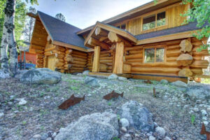 Vacation Home Pioneer Lakefront Log Cabin Donnelly Id