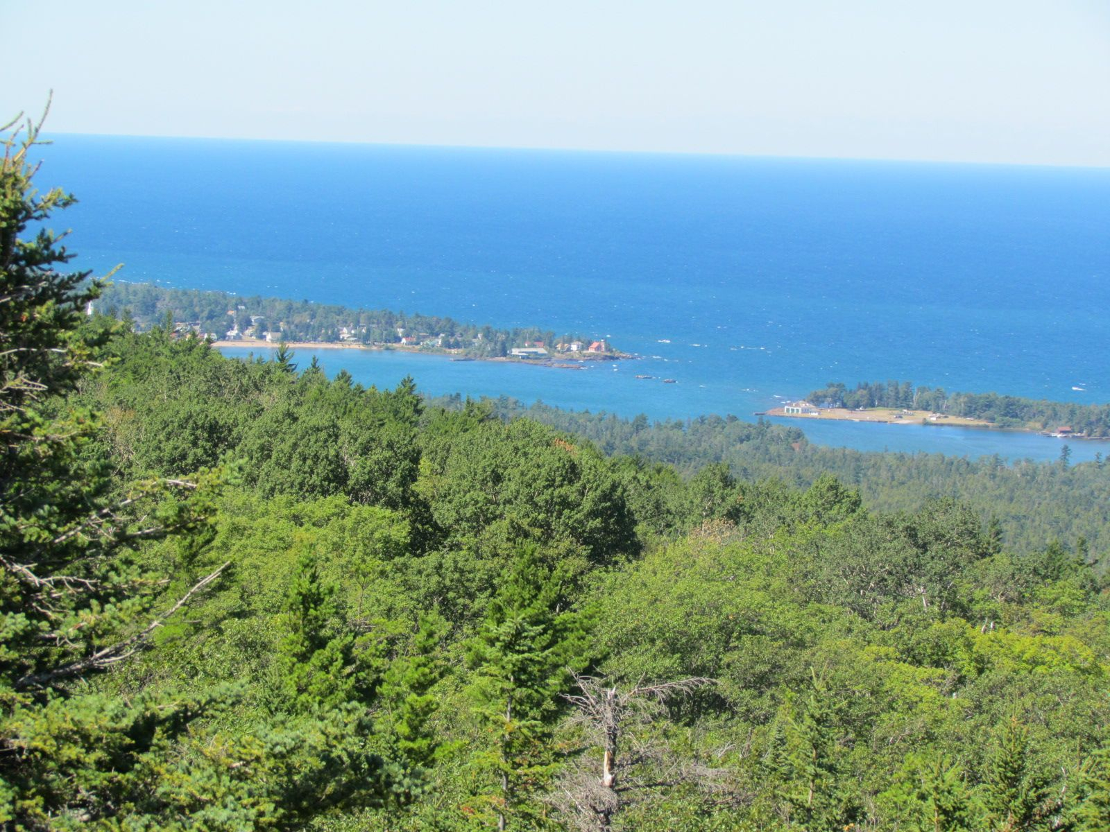 View From Mt Baldy In Eagle Harbor Mi I Ran A Trail