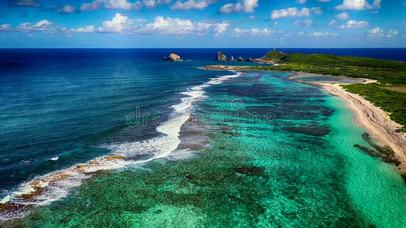 Aerial Shoot  French Caribbean Islands Of Guadeloupe