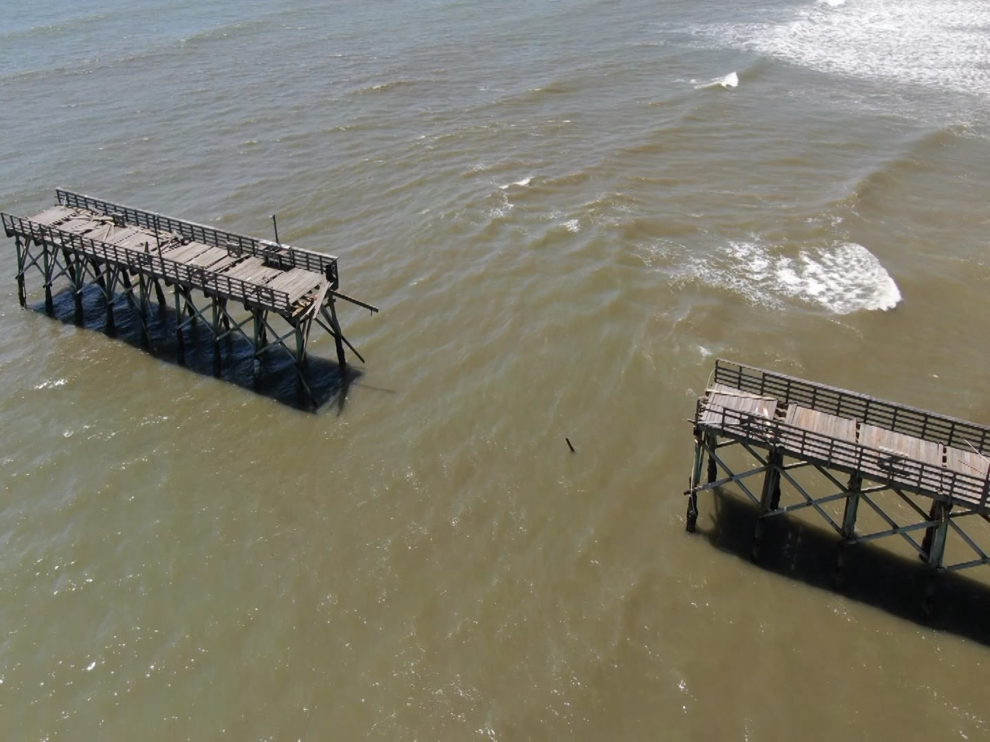 Drone Video A Look At The Damage Done To Sea Cabin Pier