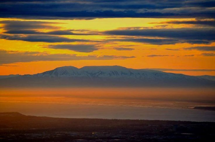 Sleeping Ladyimage Taken From Flat Top In Anchorage