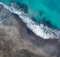 Top View Of A Deserted Black Volcanic Beach Coast Of The